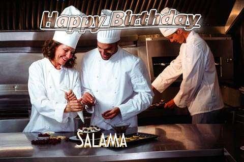 Happy Birthday Cake for Salama