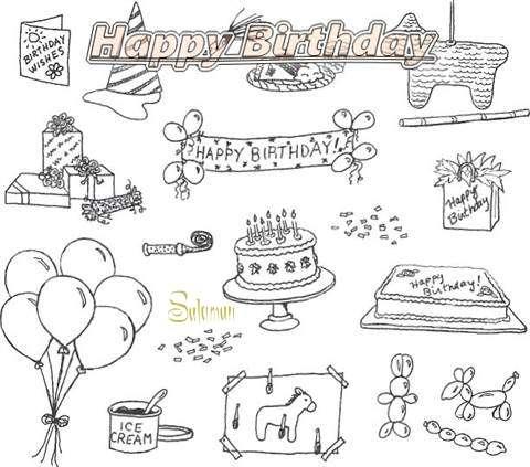 Happy Birthday Cake for Salaman