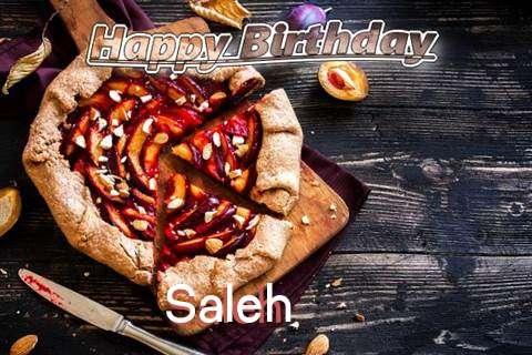 Happy Birthday Saleh Cake Image