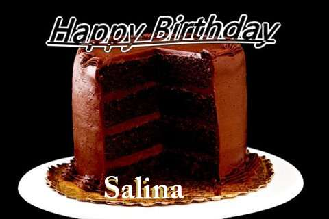 Happy Birthday Salina Cake Image
