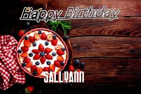 Happy Birthday Sallyann Cake Image