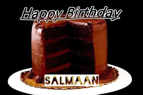 Happy Birthday Salmaan Cake Image