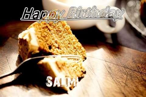 Happy Birthday Salmi Cake Image