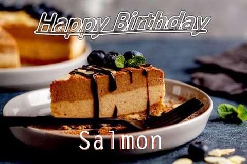 Happy Birthday Salmon Cake Image