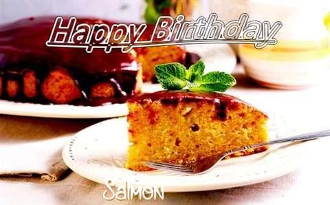 Happy Birthday Cake for Salmon