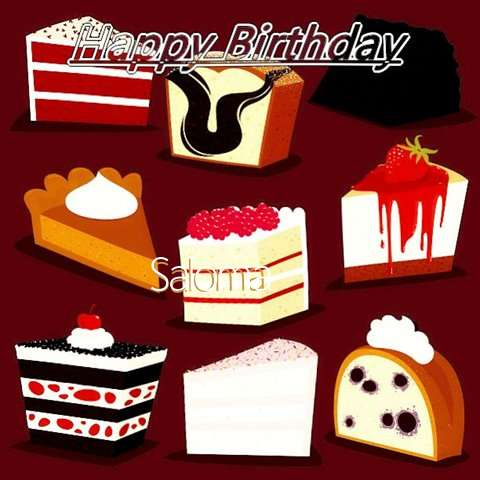 Happy Birthday Cake for Saloma