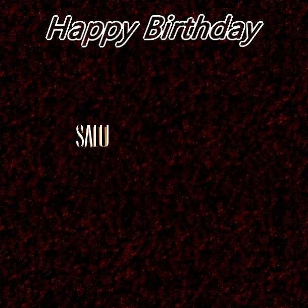 Happy Birthday Salu Cake Image