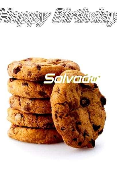 Happy Birthday Salvador Cake Image