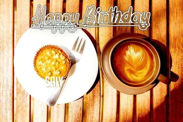 Happy Birthday Saly Cake Image