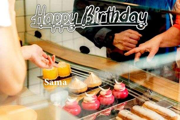 Happy Birthday Sama Cake Image