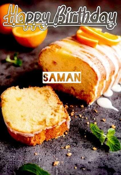 Happy Birthday Saman Cake Image
