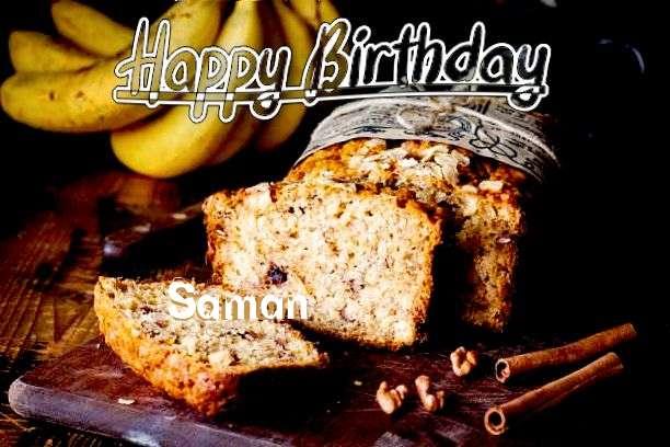Happy Birthday Cake for Saman