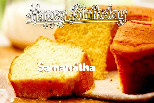Happy Birthday Cake for Samanatha