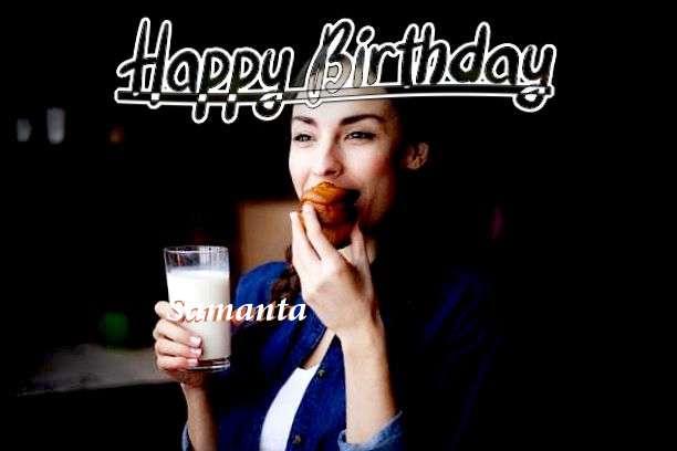 Happy Birthday Cake for Samanta