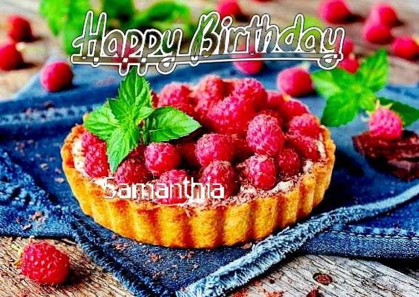 Happy Birthday Samanthia Cake Image