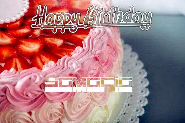 Happy Birthday Samaria Cake Image
