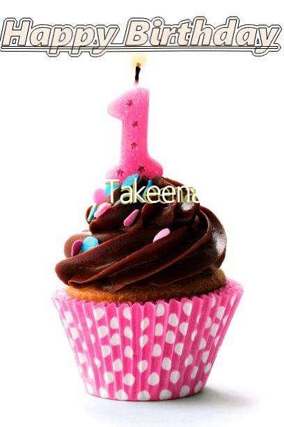 Happy Birthday Takeena Cake Image