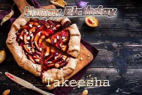 Happy Birthday Takeesha Cake Image