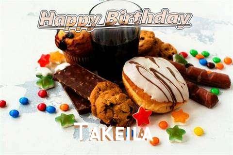 Happy Birthday Wishes for Takeila