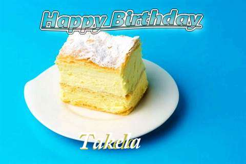 Happy Birthday Takela Cake Image