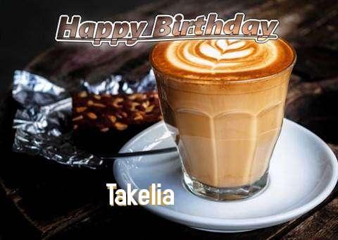 Happy Birthday Takelia Cake Image