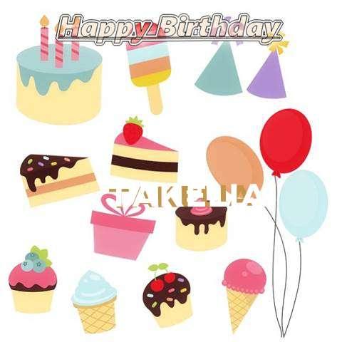 Happy Birthday Wishes for Takelia