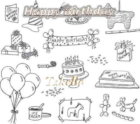 Happy Birthday Cake for Takelia