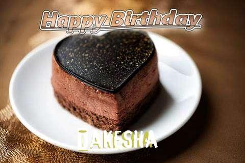 Happy Birthday Cake for Takesha