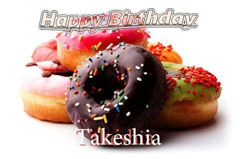 Birthday Wishes with Images of Takeshia