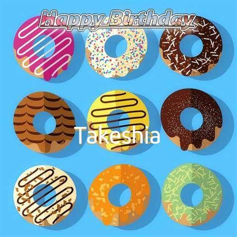 Happy Birthday Takeshia Cake Image