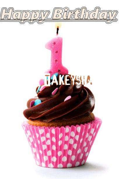 Happy Birthday Takeysha Cake Image