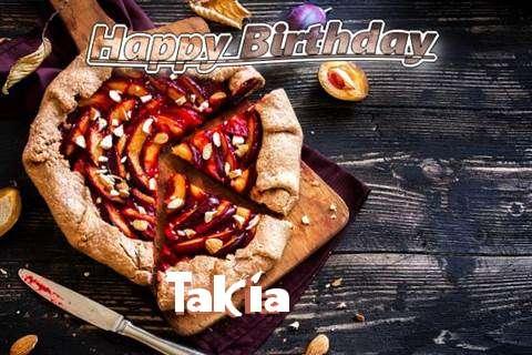 Happy Birthday Takia Cake Image