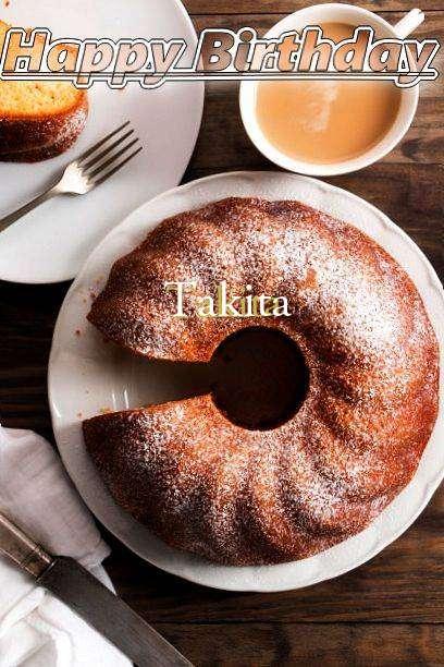 Happy Birthday Takita Cake Image