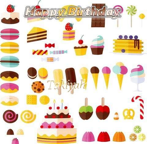 Happy Birthday Takiyah Cake Image