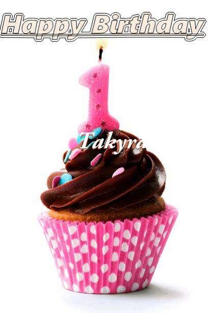 Happy Birthday Takyra Cake Image