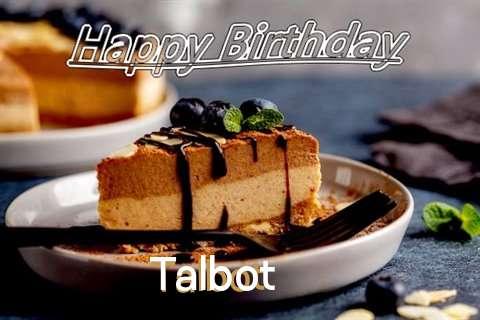 Happy Birthday Talbot Cake Image