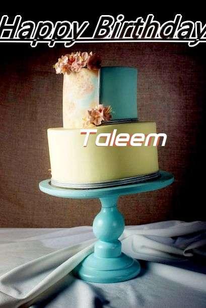 Happy Birthday Cake for Taleem