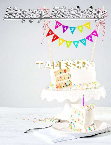 Happy Birthday Talesha Cake Image