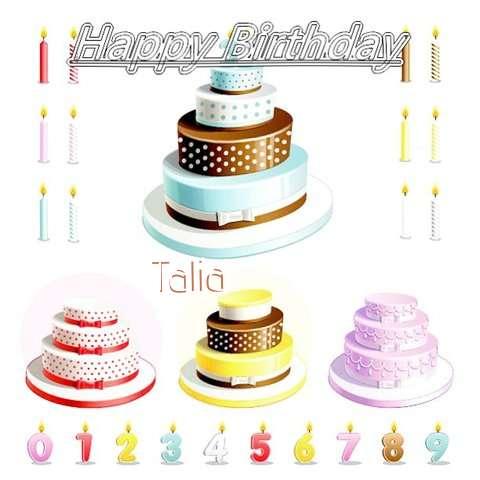 Happy Birthday Wishes for Talia