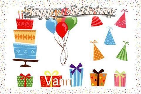 Happy Birthday Wishes for Vann