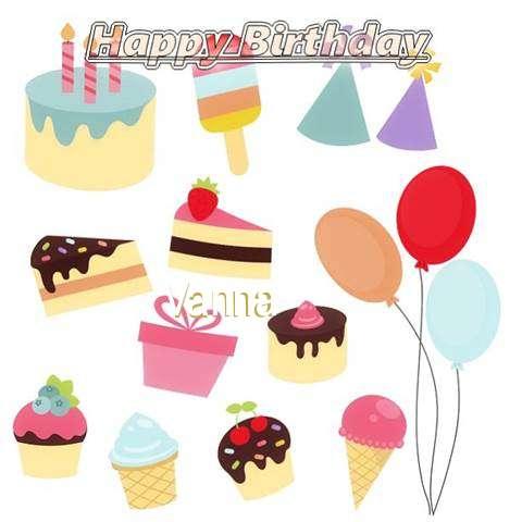Happy Birthday Wishes for Vanna