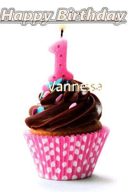 Happy Birthday Vannessa Cake Image
