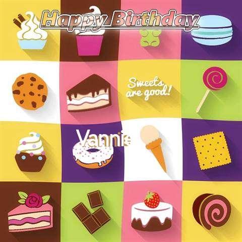 Happy Birthday Wishes for Vannie