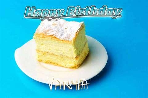 Happy Birthday Vanya Cake Image