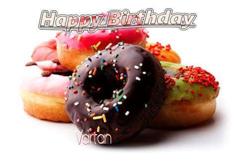 Birthday Wishes with Images of Vartan