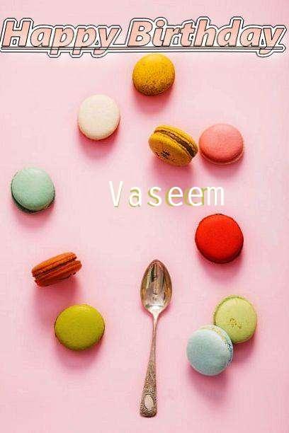 Happy Birthday Cake for Vaseem