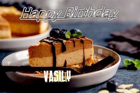 Happy Birthday Vasily Cake Image