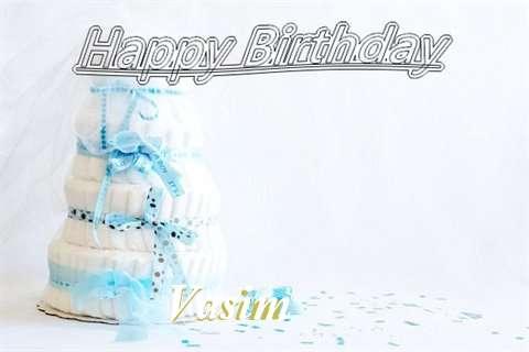 Happy Birthday Vasim Cake Image