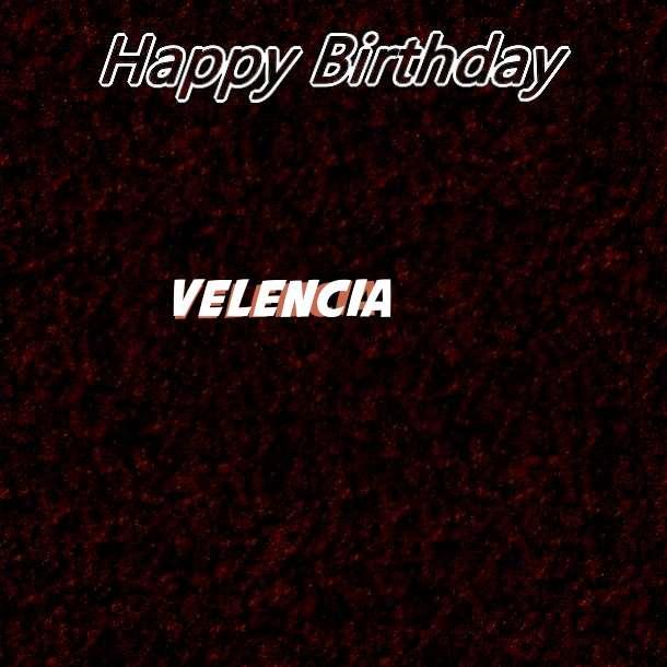 Happy Birthday Velencia Cake Image