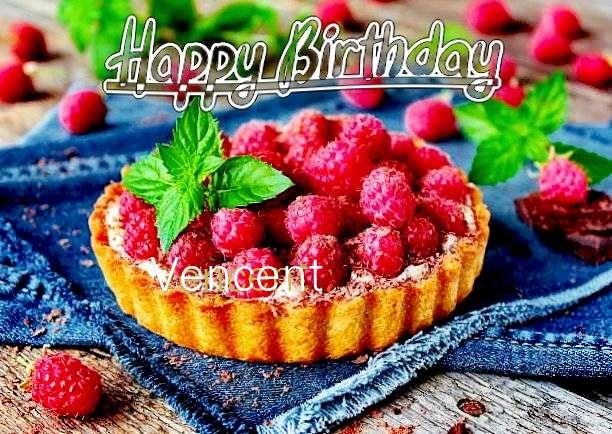 Happy Birthday Vencent Cake Image